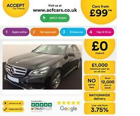BLACK MERCEDES-BENZ E200 E220 CDI AMG LINE NIGHT PREMIUM SE FROM £99 PER WEEK!