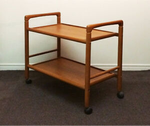 Vintage Mid Century Teak Serving Cart