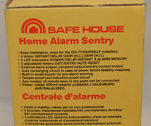 Safe House alarm control center