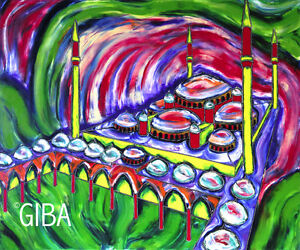 La Mosquée du Sultan - Peinture sur toile par Giba