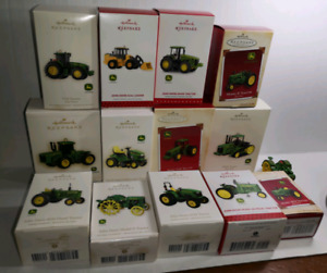 13 John Deere diecast Christmas tree ornaments