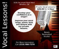 Voice/Vocal/Singing Lessons (Private In Studio Lessons)