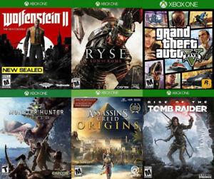 Selling/Trading Xbox One Monster Hunter, Wolfenstein2, GTA, more