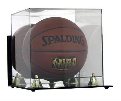 DELUXE FULL SIZE BASKETBALL WALL MOUNTABLE DISPLAY (Wall Mountable Basketball Case)