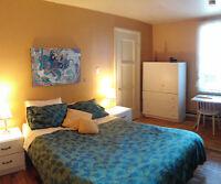 1 Mars - 3 1/2 pièces (# 6) 2 chambres meublé/équipé/services