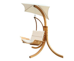 SWING CHAIR WITH UMBRELLA, PATIO, BACKYARD, TERRACE, GARDEN