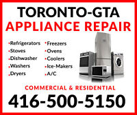 QUALIFIED APPLIANCE REPAIRS: LOWEST RATES IN GTA