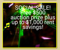 Sale FREE social hall rent on many spring 2018 dates
