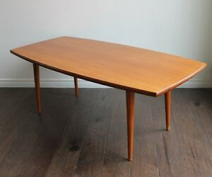 SCANDINAVIAN TEAK SURFBOARD MID CENTURY MODERN COFFEE TABLE