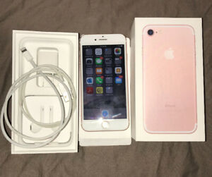 UNLOCKED Rose Gold Apple iPhone 7 128gb