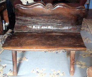 Hand Carved Indonesian Folk Art Bench
