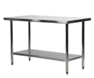 Stainless Steel Kitchen Table | eBay