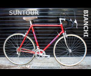 Vintage Red BIANCHI Mens 12 speed RACING road bike