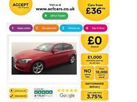 Red BMW 118 2.0TD auto 2012 d Urban 143bhp 5 door FROM £36 PER WEEK!