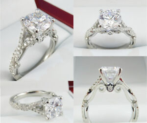 1.51ct Diamond Engagement Ring 19K White Gold