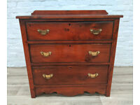 Antique Mahogany Chest Of Three Drawers (DELIVERY AVAILABLE)