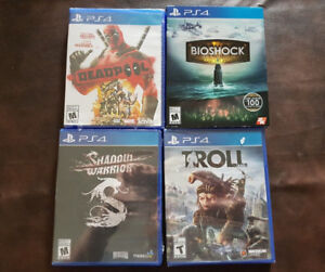 Brand new PS4 Games SEALED