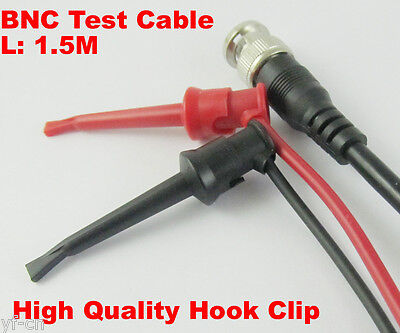 10sets 5FT BNC Male to Dual High Quality Nylon Copper Test Hook Clip Test Cable