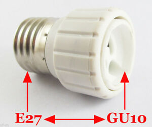 E26/27 to GU10 LED Bulb Base Socket Converter Adaptor 10pics