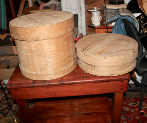 VINTAGE ROUND WOODEN CHEESE CRATES