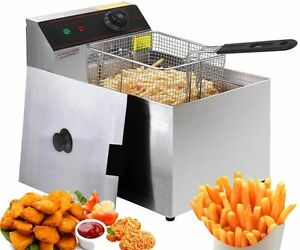 Friteuse Fryer Commercial 2500 Watts 5.5 L Restaurant Neuf