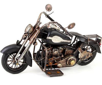 US-STYLE MOTORRAD OLDTIMER ca.53x31x21cm HIGHWAY CRUISER BLECHMODELL MOTOR BIKE
