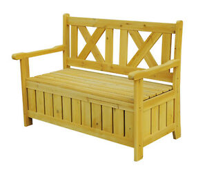 BENCH WITH STORAGE, CEDAR, BACKYARD, PATIO, TERRACE, GARDEN