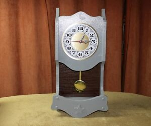 """Wall Clock Country Home Style 12"""" Tall 3.5"""" Deep AA Battery"""