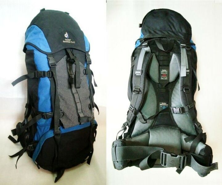 ~~~SuPeR SoLiD DeuTeR Air ConTacT 75+10 TreKKing BacKpack $198 ~~~