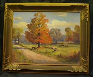 ORIGINAL OIL on Board by George H. Wolfe Canadian (1882-1965)