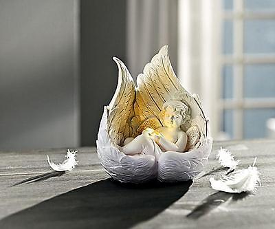 Engel Engelchen Figur LED beleuchtet Beleuchtung Deko Engelsfigur Herz Flügel