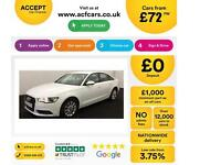 White AUDI A6 SALOON 2.0 3.0 TDI Diesel SPORT S LINE FROM £72 PER WEEK!