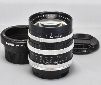 Angenieux 90mm f1.8 Type P1 Modified to Nikon F w/ Leica M adapter CLA'd #017636