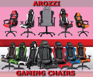 New Arozzi Gaming Chairs Various Series - Free Delivery On Now