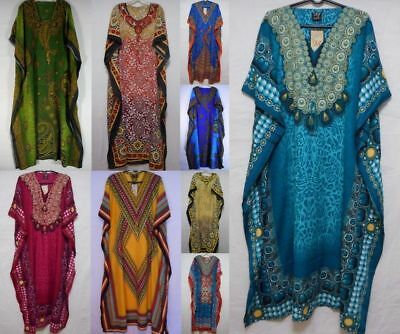Womens African Caftan Dress Dashiki Hippie Boho Kaftan Maxican Casual coverup