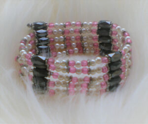 Hematite Magnetic Rose Perles Bracelet / Collier / Ras du Cou