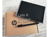 HP Pro Slate 8 tablet with pen for business,very good condition, silve