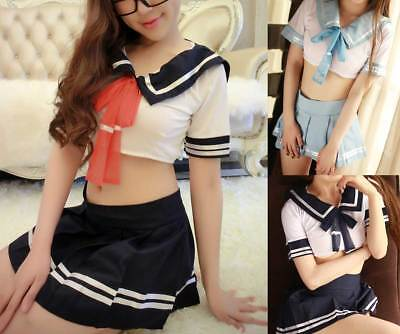 Women Sexy Japan Sailor School Girl Outfit Uniform Cosplay Halloween Costumes - Sailor Outfit Halloween