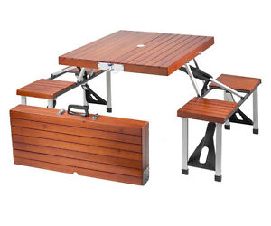 PORTBLE FOLDING PICNIC TABLE, CEDAR, PICNIC, CAMPING, BACKYARD