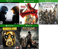 XBOX ONE Games For Sale or Trade - Halo 5, Deadpool, Unity, more