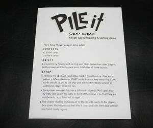 """""""Pile It"""" game for age 6+ complete   Learning game Kingston Kingston Area image 3"""