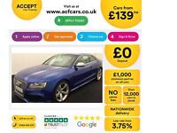 Blue AUDI RS5 COUPE 4.2 FSI Petrol QUATTRO S-T FROM £139 PER WEEK!