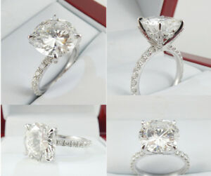3.01ct Solitaire Diamond Ring 19k White Gold