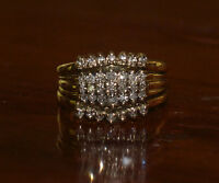 Multi Diamond 10k gold ring