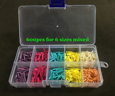 600pcs Mixed Dental Fixing Wooden Wedges For Dental Restoration For Matrices