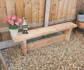 *New* 4ft handmade rustic garden bench