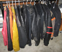 Assortment of Women's Leather Bike coats and Jackets