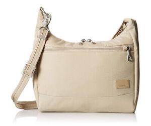 Pacsafe Citysafe CS100 Anti-Theft Travel Handbag (Almond)
