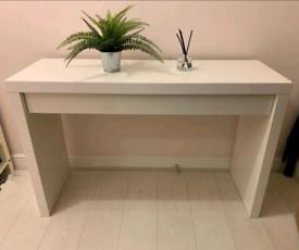 White Ikea Malm Dressing Table / Desk