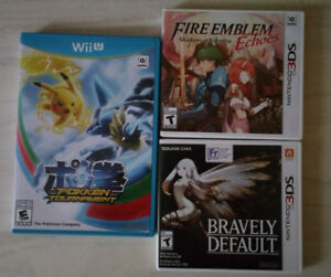 Nintendo video games (WiiU and 3DS) for sale